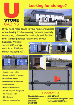 U Store Cabins Limerick Brochure